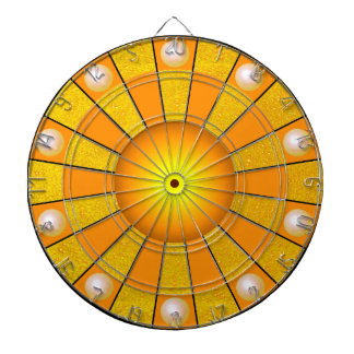 Gold Golden Darts Sun Contemporary Designer Dartboard