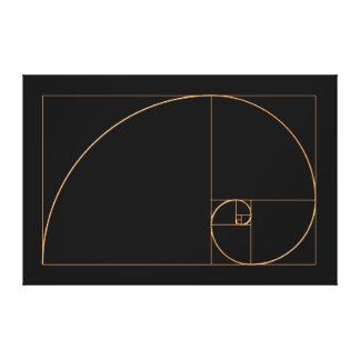 Gold Golden Spiral Canvas Print