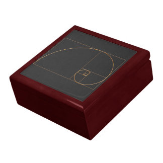 Gold Golden Spiral Large Square Gift Box