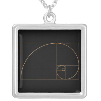 Gold Golden Spiral Silver Plated Necklace