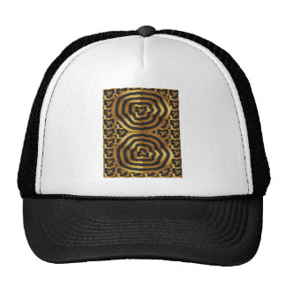 Gold Golden wave abstract art on shirts n POD gift Cap