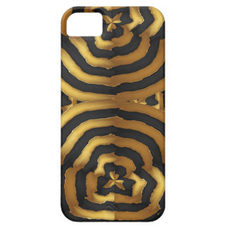 Gold Golden wave abstract art on shirts n POD gift iPhone 5 Case
