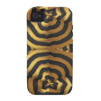 Gold Golden wave abstract art on shirts n POD gift iPhone 4 Covers