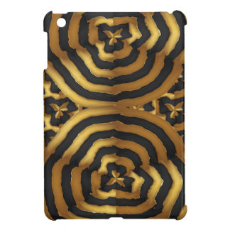 Gold Golden wave abstract art on shirts n POD gift Cover For The iPad Mini