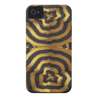 Gold Golden wave abstract art on shirts n POD gift iPhone 4 Cases