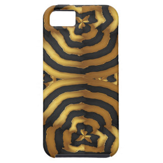 Gold Golden wave abstract art on shirts n POD gift Tough iPhone 5 Case