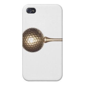 Gold golf ball and tee cases for iPhone 4