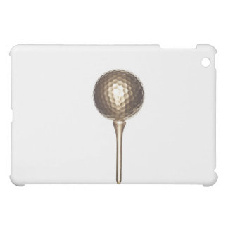 Gold golf ball and tee cover for the iPad mini