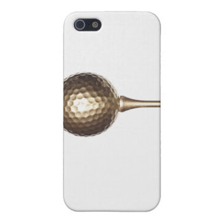 Gold golf ball and tee iPhone 5/5S case