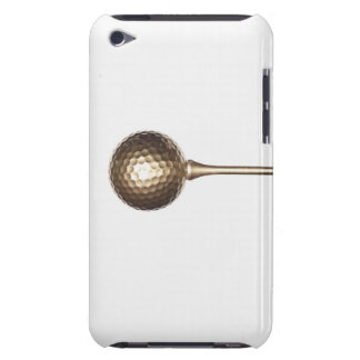 Gold golf ball and tee iPod touch cases