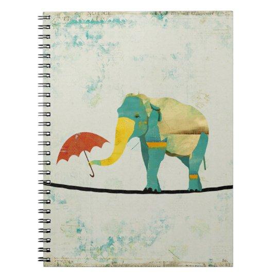 Gold Graceful Elephant Notebook