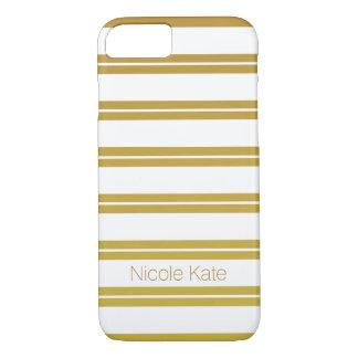 gold gradient stripes monogram iPhone 7 case