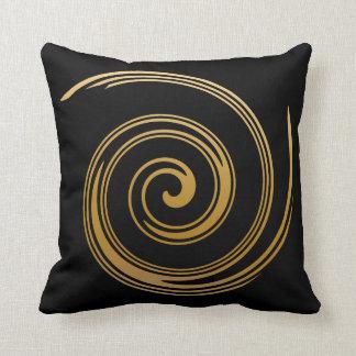 Gold Gradient Swirl Cushion