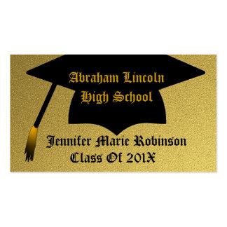 Gold Graduate Business Card