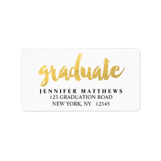 Gold Graduate   Graduation Address Label
