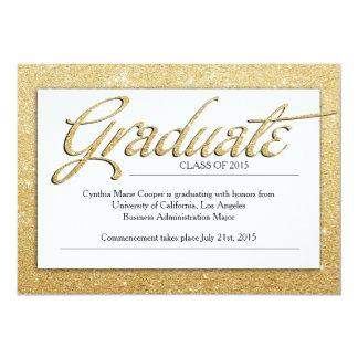 Gold Graduation Invitation
