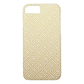 Gold Greek Key Pattern iPhone 7 Case