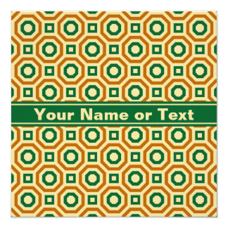 Gold/Green/Brown Nested Octagons Invitation