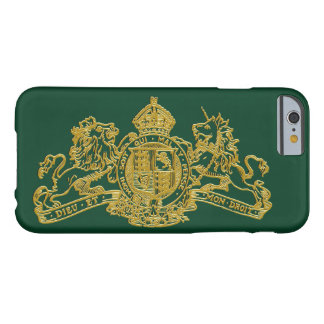 Gold Green Dieu et Mon Droit British Coat of Arms Barely There iPhone 6 Case