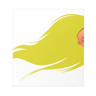 Gold Hair Girl Notepad