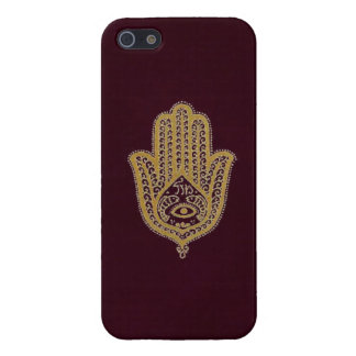 Gold Hamsa on Red Cover For iPhone 5/5S