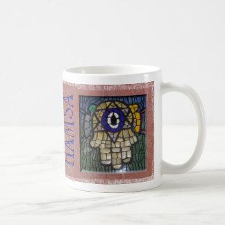 Gold Hamsa with Silver Star and Evil Eye Coffee Mug