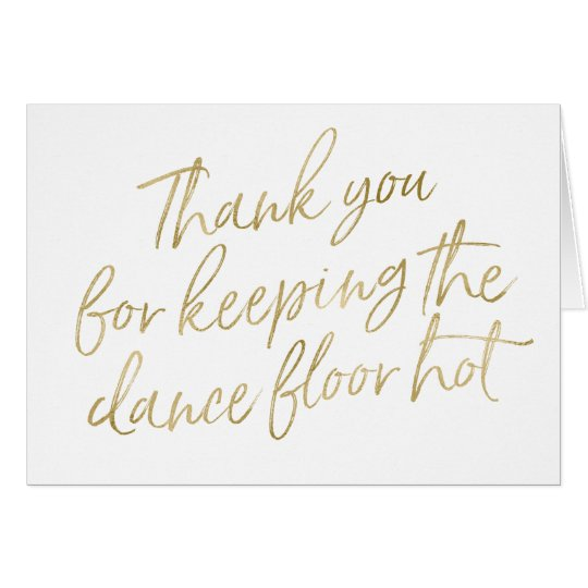 """Gold Hand Lettered """"Thank you"""" DJ, Musician, Band"""