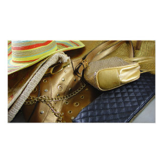 Gold Handbags Photo Print