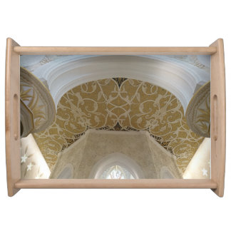 Gold Handcraft Ceiling Serving Tray