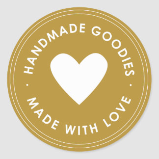 Gold Handmade Goodies Sticker
