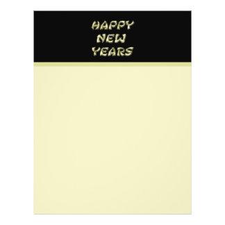 gold Happy New Years Custom Flyer