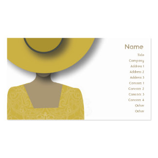 Gold Hat - Business Pack Of Standard Business Cards