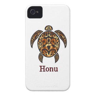 Gold Hawaiian Sea Turtle on White Case-Mate iPhone 4 Case
