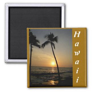 Gold Hawaiian Sunset Fridge Magnet