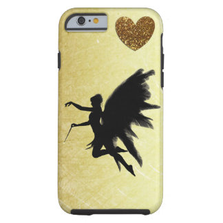 Gold Heart and Black Fairy Cell Phone Case