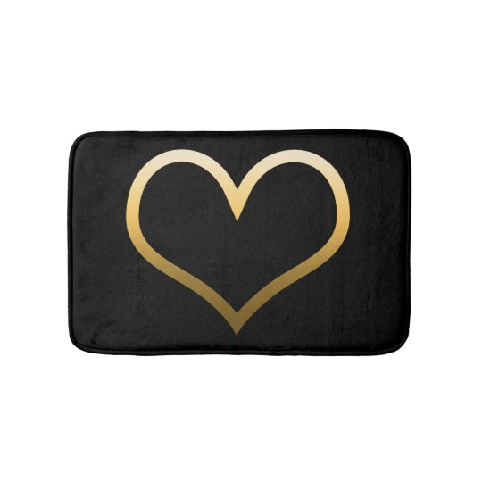 Gold Heart Bath Mat