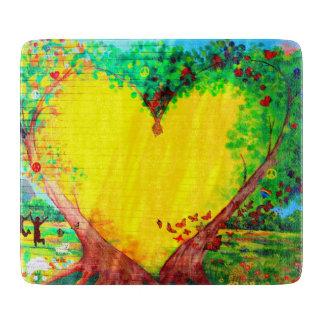 gold heart cutting board