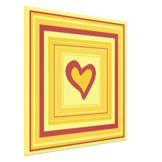 Gold Heart Design 2 Canvas Print
