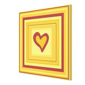 Gold Heart Design 2, small Canvas Print