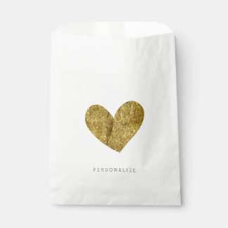 Gold Heart Favour Bags
