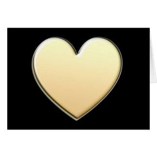 Gold Heart Notecards Note Card