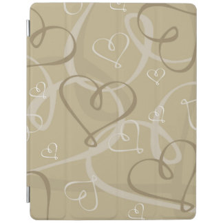 Gold heart pattern iPad cover