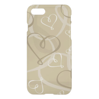 Gold heart pattern iPhone 7 case