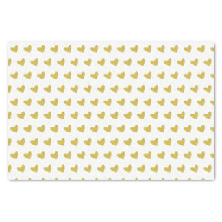 Gold Heart Tissue Paper