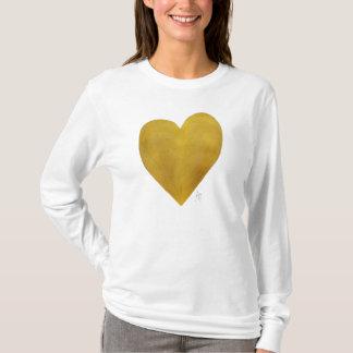 Gold Heart Trendy Chic Love Long Sleeved T-shirt