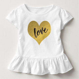 Gold Heart With Love Toddler T-Shirt