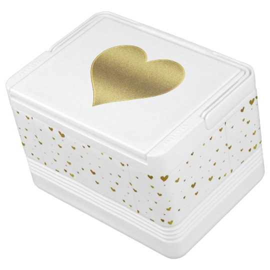 Gold Hearts Igloo Cooler