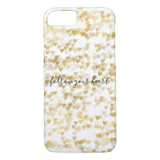 Gold Hearts iPhone 8/7 Case