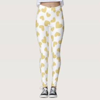 Gold Hearts Leggings