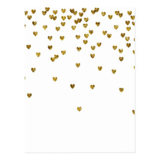Gold Hearts Postcard